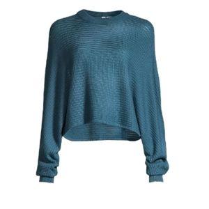 Diadora Luxe Sportswear Midnight Cropped Sweater S